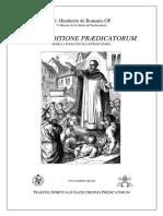 De Eruditione Praedicatorum, Fratre Umberto Romanis OP