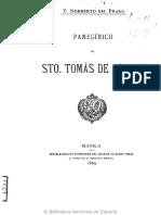 Panegirico de Santo Tomas, Fray Norberto Del Prado OP