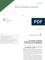 El Método Científico Aplicado a La Investigación en Comunicación Mediática - García & Berganza