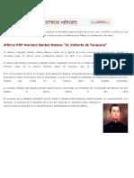 La Historia de La Policía Nacional Del Perú Contiene Innumerables Páginas Plenas de Arrojo
