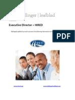 Executive Position Profile - HIRED - Executive Director
