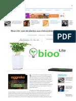 Bioo Lite_ Vaso de Plantas Usa a Fotossíntese Para Gerar Energia - TecMundo