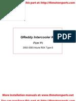 Greddy Inter Cooler Kit Install Integra