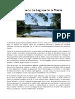 Leyenda de La Laguna de La María