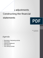 Accounting Adjustments and Constructing the Financial Statements