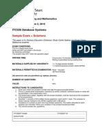 ITC556 Sample Exam + Solutions