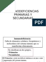 Inmunodeficiencias primarias y secundarias