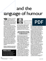 Freud and the Language of Humor