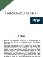 A Importância Da Ceia II