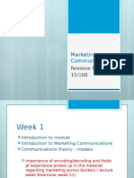 Marketing Communications Revision for Resit (1)