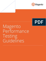 Magento Performance Testing Guidelines