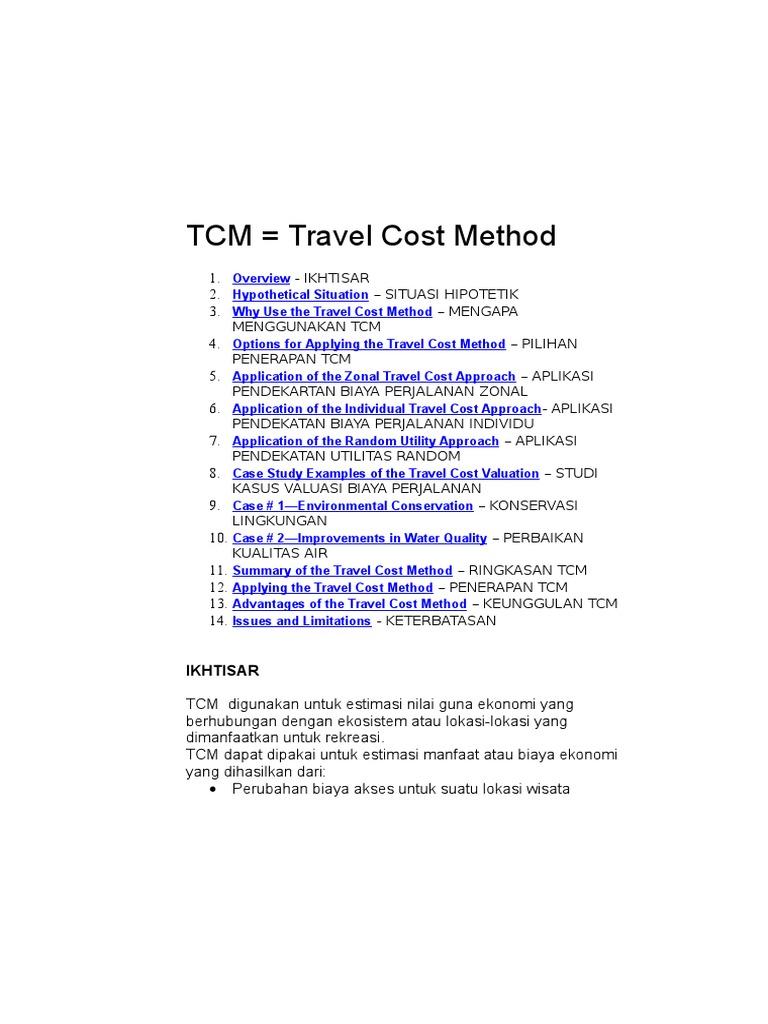 Travel cost method demand survey methodology ccuart Choice Image