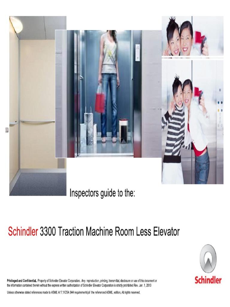 schindler 3300 mrl inspectors guide rh scribd com Schindler 3300 Elevator Phone Test Schindler Elevator 330A