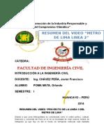 Video Metro de Lima l2