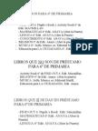 Libros y material 6º de Primaria