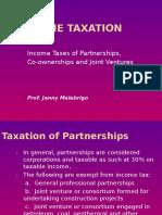 Income Taxation - Part 3 Partnership