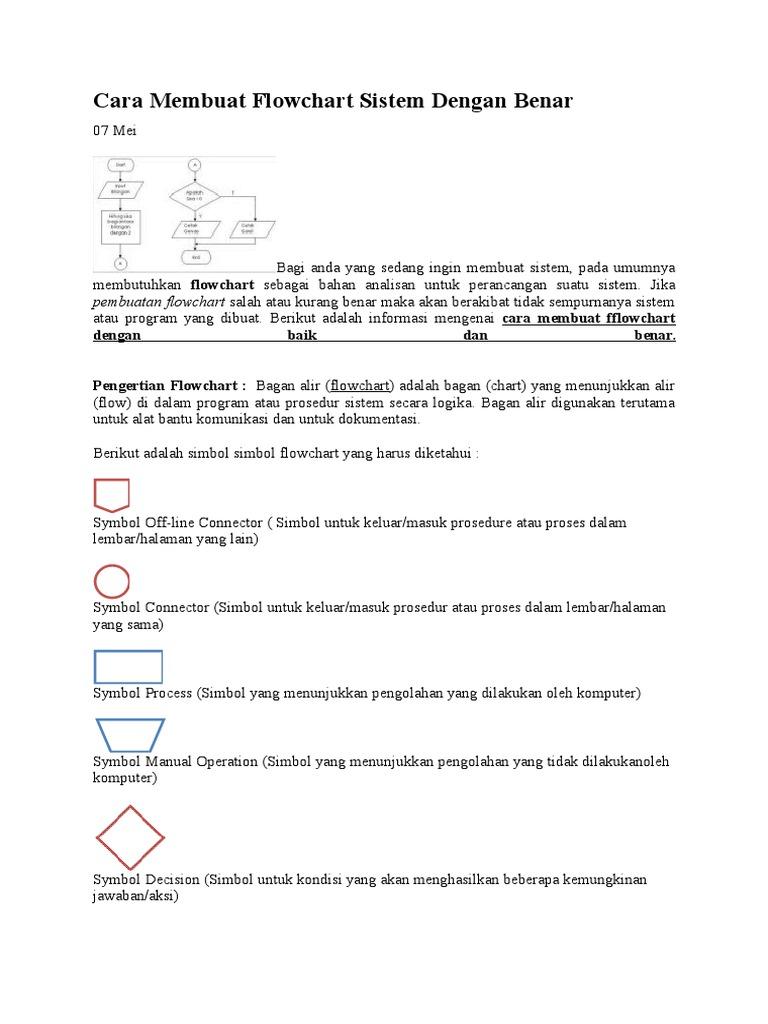 Cara Membuat Flowchart Sistem Dengan