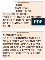 Classroom Prayer