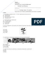 Evaluación Ciencias Naturales Lunes 26 de Septiembre