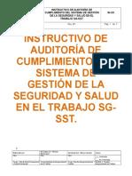 In-xx Instructivo de Auditoría de Cumplimiento Del Sistema de Gestión de La Seguridad y Salud en El Trabajo Sg-sst(1)