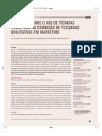 Reflexões sobre o uso de técnicas projetivas na condução de pesquisas qualitativas
