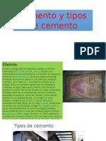 Cemento y Tipos de Cemento