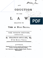 Francis Buller's ''an Introduction to the Law Relative to Trials at Nisi Prius'' 336 (1785, Ed. 4)
