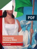 Primaria Sexto Grado Formacion Civica y Etica Libro de Texto
