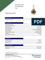 Datasheet Rotary Potentiometer