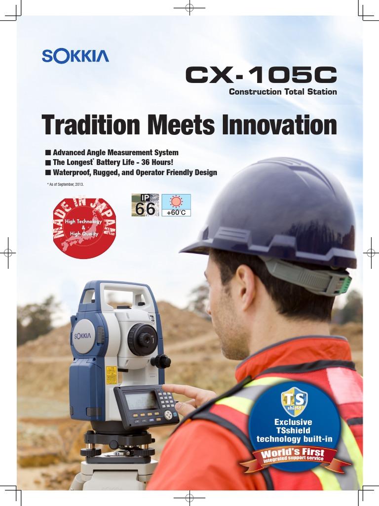 Brosur Total Station Sokkia CX105C Angular Resolution