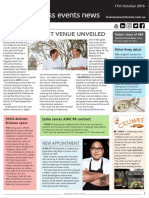 Business Events News for Mon 17 Oct 2016 - Venue for WorldSINGLEQUOTEs 50 Best Restaurants revealed, SWISS Belhotel Brisbane, The Langham Sydney, ICC Sydney. Northern Territory Convention Bureau and much more