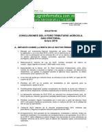 Boletin 68_ Conclusiones Foro Tributario Agricola- Enero 2016