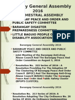 Report of BPOPS cluster for 2nd Semester Barangay General Assembly 2016