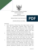 UU 20 TAHUN 2003 Ttg Sistem Pendidikan Nasional