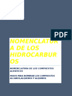 2.1 Nomenclatura de Los Hidrocarburos (Alifaticos)y 2.1.1-2.1.1.2(, Alcanos,Alquenos,Alquinos)