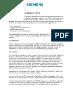 Siemens Ductor Test Method Statement