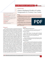 Clinico-Etiological Profile of Cardiac Tamponade in a Tertiary Care Centre