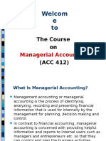 Managerial Accounting - Class 1