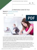 Write a Motivation Letter