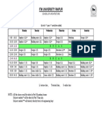 Time Table Sem 1