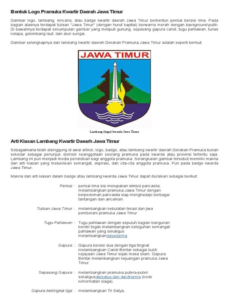 Bentuk Logo Pramuka Kwartir Daerah Jawa Timur