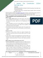 122nd Amendment GST Bill, 2014