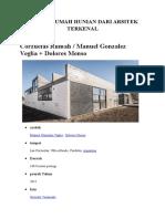 Konsep Rumah Hunian Dari Arsitek Terkenal