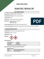 Ethyl Alcohol Safety Data Sheet