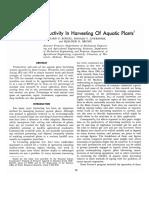 Cost and Productivity of Aquatic Plants