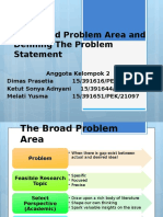 CH 3 the Broad Problem Area and Defining the Problem