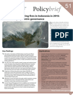 ASB_PB51, Peat and Land Clearing Fires in Indonesia in 2015, Lessons for Polycentric Governance