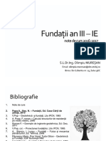 C1 - Fundații an III -IE