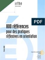 800  références pour des pratiques réflexives en orientat ion (EduSarthe , IA Sarthe, février 2009, 134 p.)