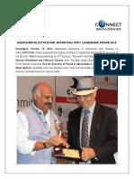 Assocham Felicitates Mr. Arvind Bali with 'Leadership Award 2016'